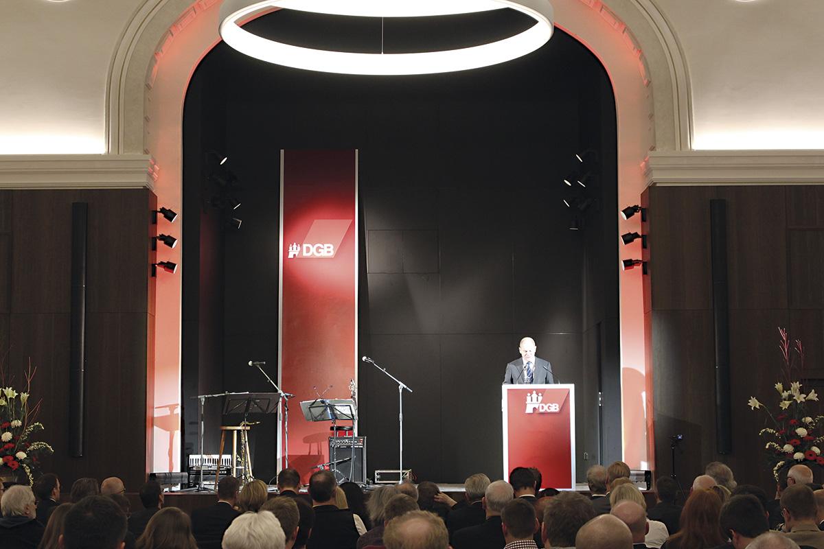 Feierliche Wiedereröffnung DGB-Haus Hamburg