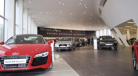 Sprachalarmierungssystem im Audi terminal