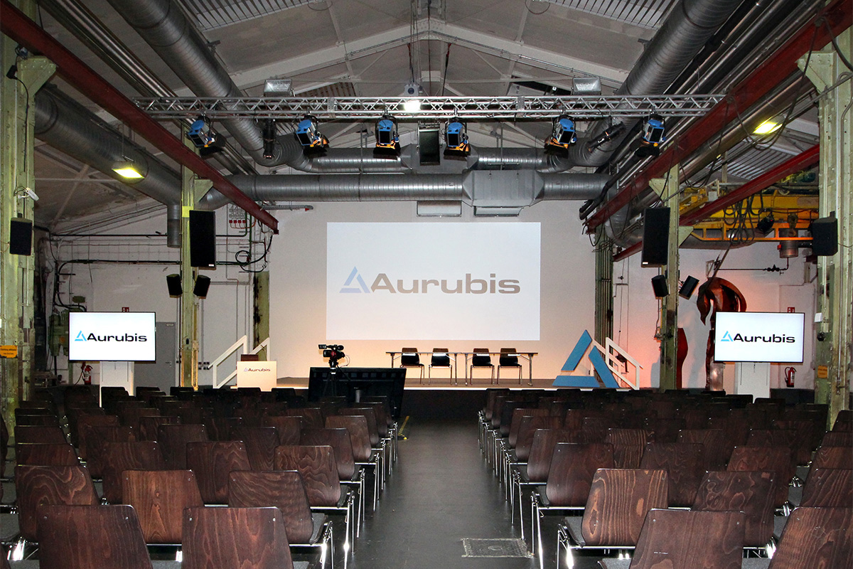 Mediasystem beim Aurubis Ex Up Meeting