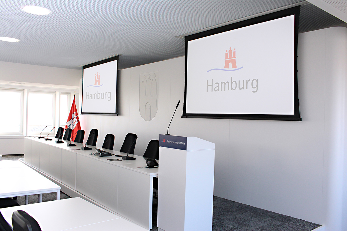 Bezirksamt Hamburg-Mitte tagt mit neuer Technik