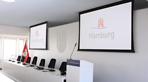 Konferenztechnik für das Bezirksamt Hamburg-Mitte