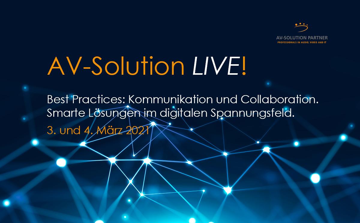AV-Solution LIVE! Einladung zur virtuellen Tour der AV-Solution Partner